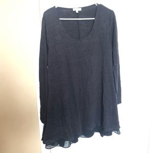 Charcoal Grey Two-Layer Tunic